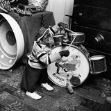 Monkey Drummer Lámina fotográfica por  Vecchio