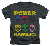 Juvenile: Power Rangers - Ranger Heads T-shirts
