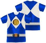 Power Rangers - Blue Ranger Emblem (Front/Back Print) Sublimated