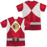 Power Rangers - Red Ranger Emblem (Front/Back Print) Sublimated
