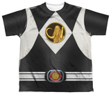 Youth: Power Rangers - Black Ranger Uniform T-shirts
