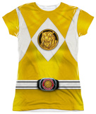 Juniors: Power Rangers - Yellow Ranger Emblem Womens Sublimated