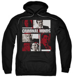 Hoodie: Criminal Minds - Character Boxes Pullover Hoodie