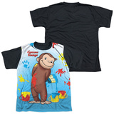 Youth: Curious George - Paint All Over(black back) T-Shirt
