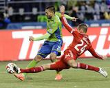 2014 MLS Playoffs: Nov 10, FC Dallas vs Seattle Sounders - Clint Dempsey, Matt Hedges Foto af Steven Bisig