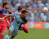 Jul 6, 2014 - MLS: Chicago Fire vs Sporting KC - Dom Dwyer, Patrick Ianni Photo by Denny Medley