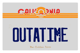 Old Cali Plate Plastic Sign