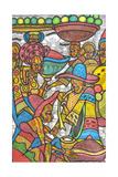 Calabash Market Giclée-tryk af Muktair Oladoja