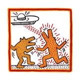 Haring - Untitled October 1982 Broad Foundation Giclée-tryk af Keith Haring