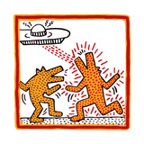 Haring - Untitled October 1982 Broad Foundation Stampa giclée di Keith Haring