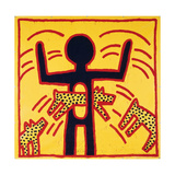 Haring - Untitled October 1982 Private Collection Reproduction procédé giclée par Keith Haring
