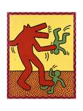 Haring - Untitled October 1982 Giclée-tryk af Keith Haring