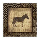 African Wild Zebra Border Posters af Hugo Wild