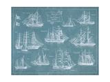 Barche clipper Poster di Hugo Wild