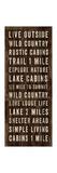 Simple Living Panel I Prints by Michael Mullan
