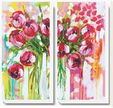 Razzle Dazzle Tulips Stretched Canvas Print by Amanda J. Brooks
