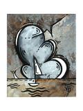 Silver Sea II Prints by Megan Aroon Duncanson