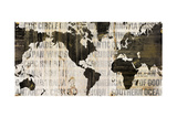 Crate World Map Neutral Poster by Sue Schlabach