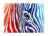 Abstract Pop Zebra Giclée-Premiumdruck von Megan Aroon Duncanson