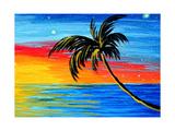 Tropical Goodbye Art by Megan Aroon Duncanson
