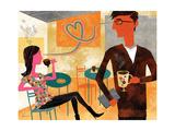 Coffeeshop Love Premium-giclée-vedos tekijänä Richard Faust