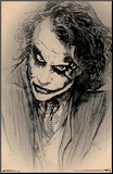 Dark Knight - Sketch Mounted Print