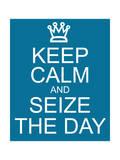 Keep Calm and Seize the Day Láminas por  mybaitshop