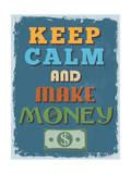 Retro Vintage Motivational Quote Poster. Vector Illustration Kunst av  sibgat