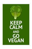 Vegan Poster with Popular Phrase Láminas por  AlexanderZe