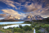 Chile, Patagonia, Torres Del Paine National Park (Unesco Site), Lake Peohe Lámina fotográfica por Michele Falzone