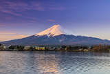 Mount Fuji at Sunrise as Seen from Lake Kawaguchi, Yamanashi Prefecture, Japan Photographic Print by Stefano Politi Markovina