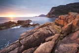 Freycinet National Park, Tasmania, Australia. Sunrise over the Coastline Photographic Print by Matteo Colombo