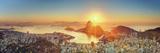 Brazil, Rio De Janeiro, View of Sugarloaf and Rio De Janeiro City Fotografisk tryk af Michele Falzone