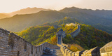 The Great Wall at Mutianyu Nr Beijing in Hebei Province, China Fotografie-Druck von Peter Adams