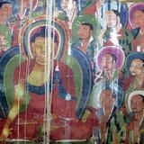 Mural Painting (11th Century), Dratang Monastery, Lhoka (Shannan) Prefecture, Tibet, China Fotografie-Druck von Ivan Vdovin