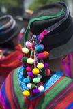 Peru, Lima, San Martin Square, Ayacuchano Carnival, Ayacucho Region, Traditional Festival Lámina fotográfica por John Coletti