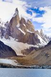 Argentina, Patagonia, El Chalten, Los Glaciares National Park, Laguna Torre and Cerro Torre Peak Lámina fotográfica por Michele Falzone