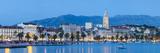 St. Domnius Cathedral Bell Tower and Stari Grad Illuminated, Split, Central Dalmatia, Croatia Photographic Print by Doug Pearson
