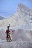 Jim Jellowhawk at Zabriskie Point, Death Valley National Park, California, Usa Mr Photographic Print by Christian Heeb