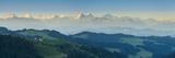 Emmental Valley and Swiss Alps in the Background, Berner Oberland, Switzerland Fotografisk trykk av Jon Arnold