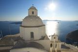 Church in Thira, Santorini, Cyclades, Greece Fotografisk tryk af Katja Kreder