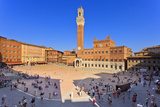 Italy, Tuscany, Siena District, Siena. Piazza Del Campo. the Square. Fotoprint av Francesco Iacobelli