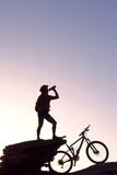 Mountain Biker, Grindelwald, Bernese Oberland, Switzerland (Mr) Reproduction photographique par Norbert Eisele-Hein
