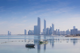 United Arab Emirates, Abu Dhabi, View of City Skyline Reflecting in Persian Gulf Fotoprint av Jane Sweeney
