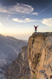 Oman, Wadi Ghul, Jebel Shams. the Grand Canyon of Oman, Tourist on the Edge Photographic Print by Matteo Colombo