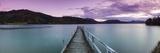 Dusk Falls over Wharf in Idyllic Kenepuru Sound, Marlborough Sounds, South Island, New Zealand Reproduction photographique par Doug Pearson
