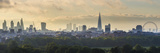 London Skyline with the Shard Above Hyde Park, London, England, Uk Fotografisk tryk af Jon Arnold