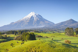 Picturesque Mount Taranaki (Egmont) and Rural Landscape, Taranaki, North Island, New Zealand Photographic Print by Doug Pearson