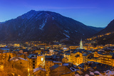 Winter View at Dusk over Andorra La Vella, Andorra Photographic Print by Stefano Politi Markovina