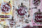 Cuba, Trinidad, Havana Club Painted on Wall of Bar in Historical Center Fotoprint av Jane Sweeney